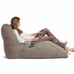 eco weave avatar lounger bean bag side view