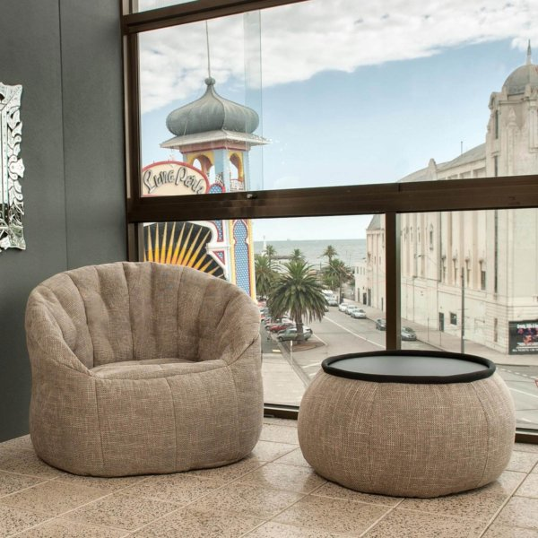 eco weave butterfly sofa bean bag lifestyle image