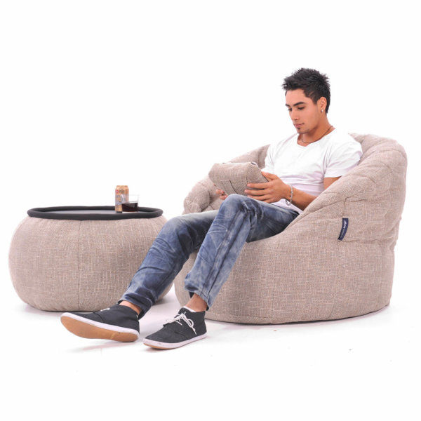 eco weave butterfly sofa bean bag with versa table