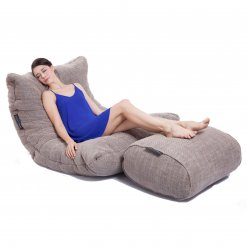 eco weave ottoman bean bag with acoustic sofa