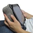 eco weave tech pillow bean bag for ipad
