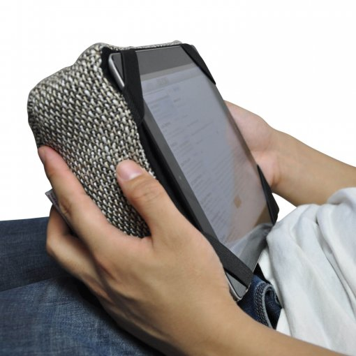 eco weave tech pillow bean bag for ipad