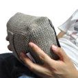eco weave tech pillow bean bag when held