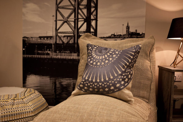 Evolution sofa bean bag in Eco Weave lifestyle shot