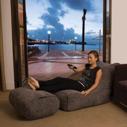 Evolution sofa bean bag in luscious grey lifestyle shot 3