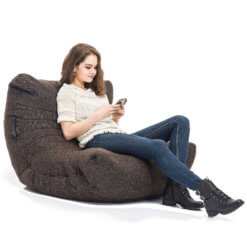 hot chocolate acoustic bean bag with model