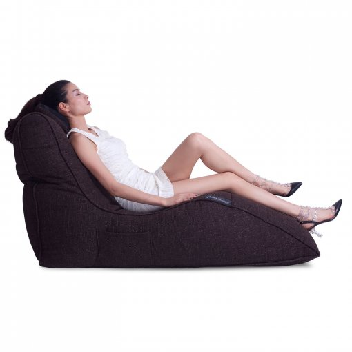 hot chocolate avatar lounger bean bag side view