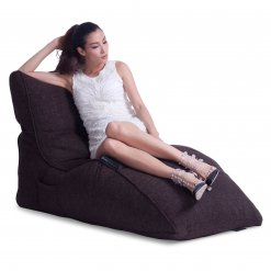 hot chocolate avatar lounger bean bag with model