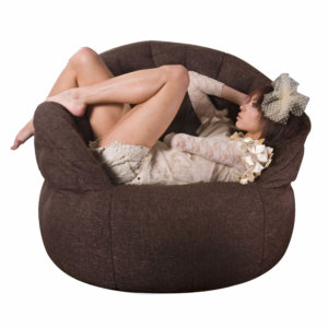 hot chocolate butterfly sofa bean bag with model