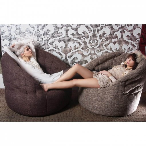 hot chocolate and ecoweave butterfly sofa bean bag
