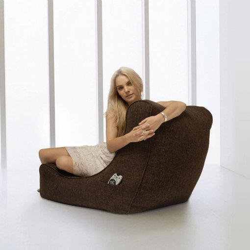 hot chocolate evolution lounger bean bag side view