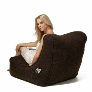 hot chocolate evolution lounger bean bag with model