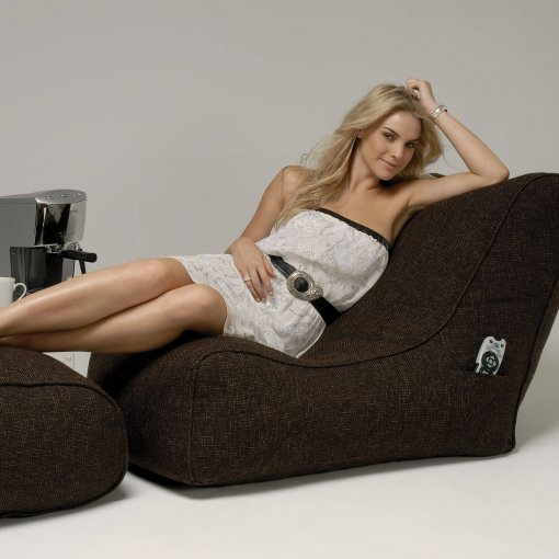hot chocolate evolution lounger bean bag with ottoman