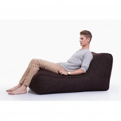 hot chocolate studio lounger bean bag side view with model
