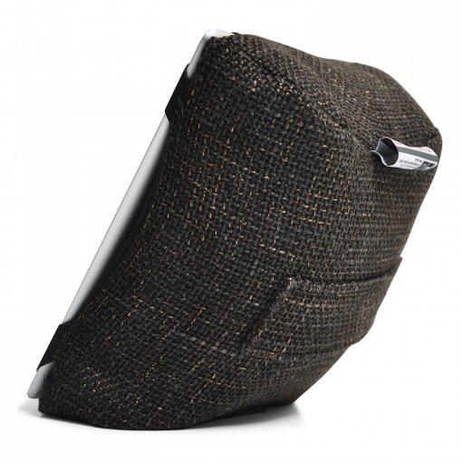 hot chocolate tech pillow bean bag side view
