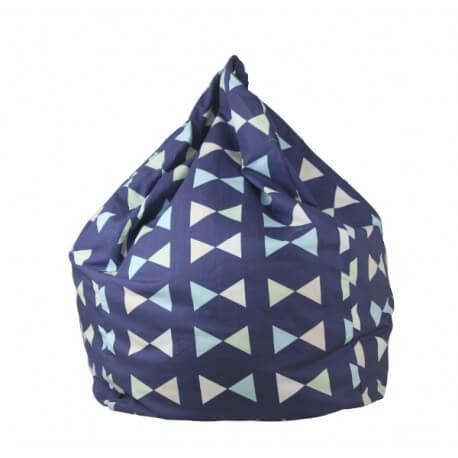 Lelbys kids bean bag in boys bowtie colour