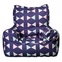 Lelbys kids bean bags chair in bowtie pattern