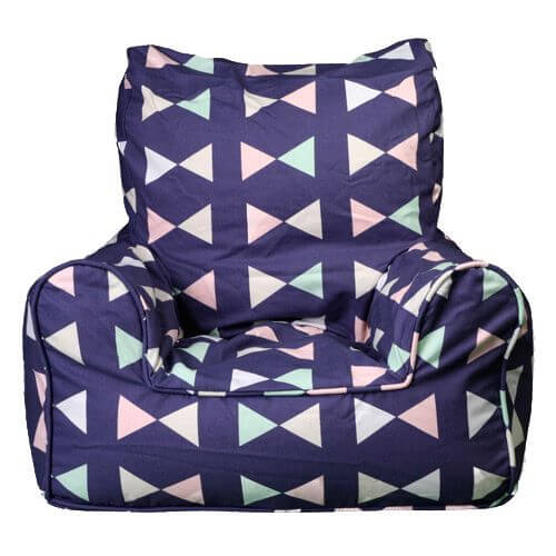 Lelbys Kids Bean Bags Chair In Bowtie Pattern