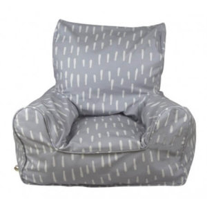 Lelbys kids bean bags chair in indigo raindrops pattern