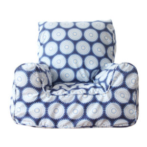 Lelbys kids bean bags chair in navy freckles