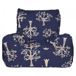Lelbys kids bean bags chair in navy orchard