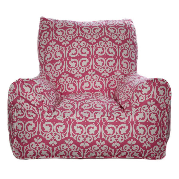 Lelbys kids bean bags chair in damask red