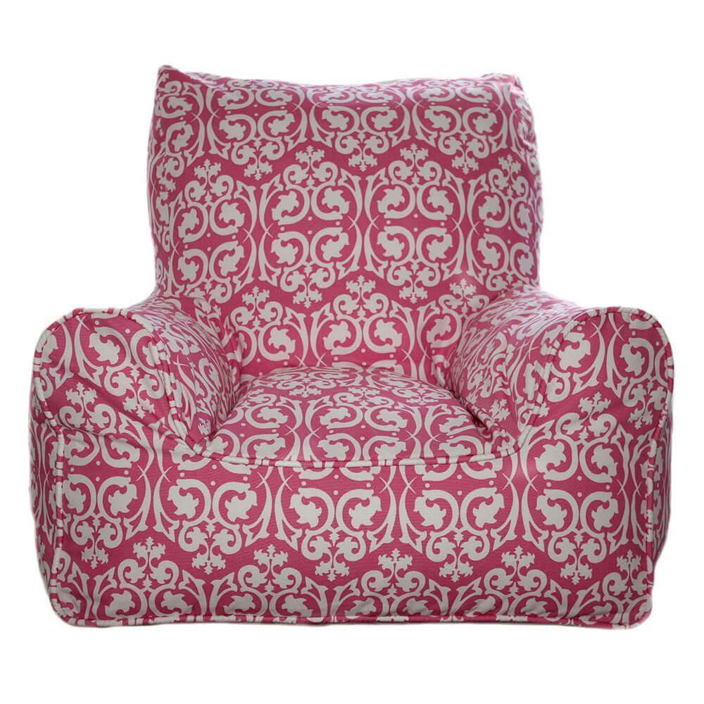 Damask Pink Kids Chair Bean Bags Australia