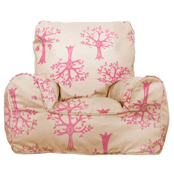 Lelbys kids bean bags chair in pink orchard colour