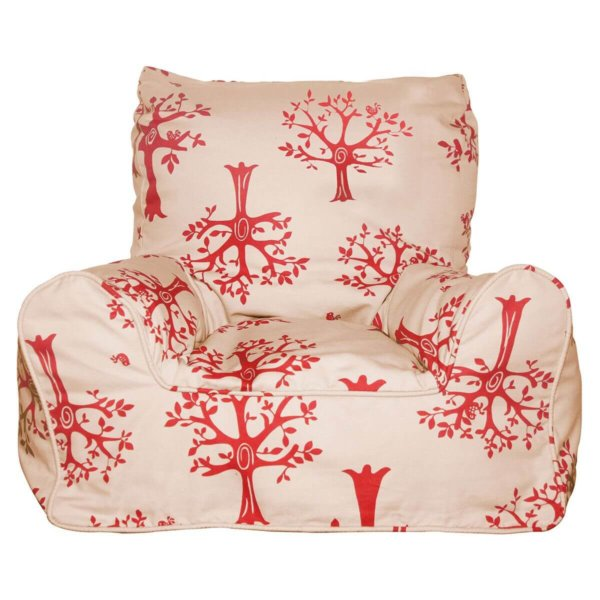 Lelbys kids bean bags chair in red orchard color
