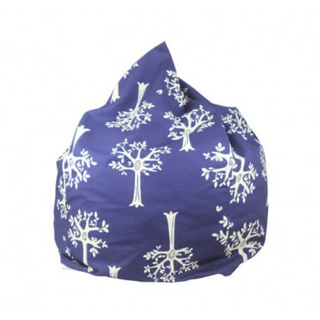 Lelbys kids bean bag in navy orchard colour