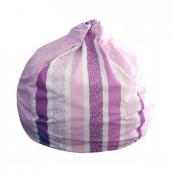 Lelbys kids bean bag in pink stripy dots pattern