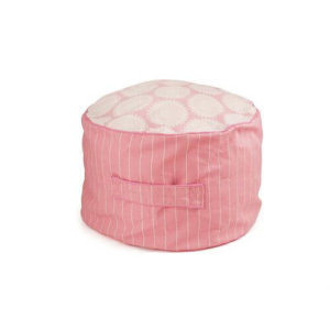 Lelbys kids bean filled ottoman in pink freckles pattern