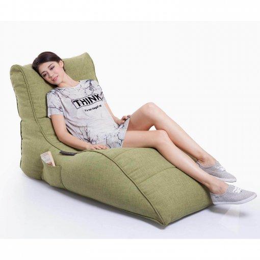 lime citrus avatar lounger bean bag slant view