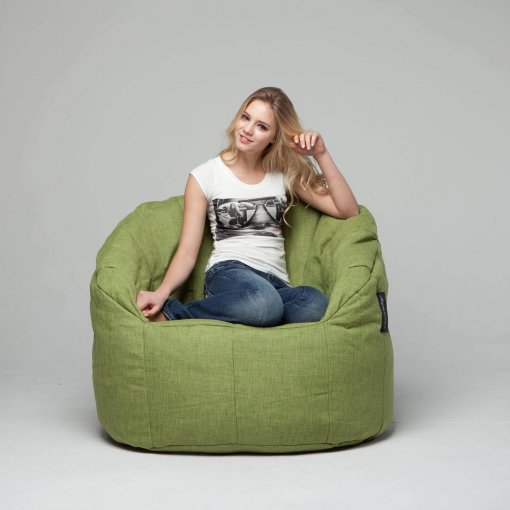 lime citrus butterfly sofa bean bag front view