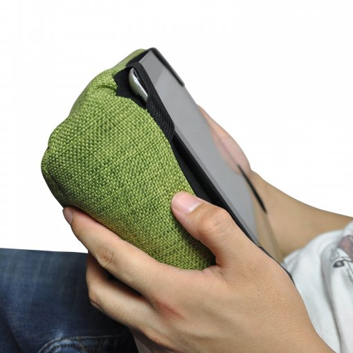 lime citrus tech pillow bean bag when held - Copy