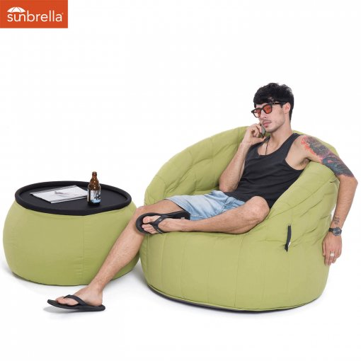 limespa versa table bean bag with butterfly