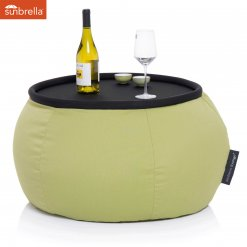 limespa versa table bean bag with table top