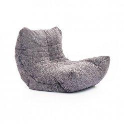 luscious grey acoustic bean bag