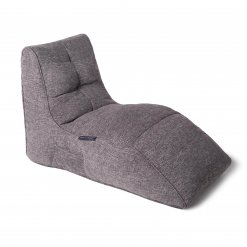 luscious grey avatar lounger bean bag