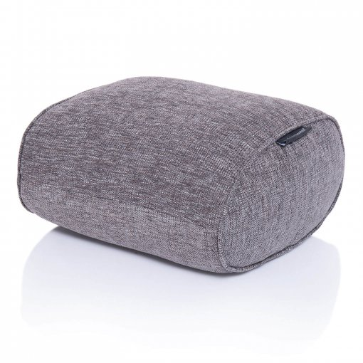 luscious grey ottoman bean bag