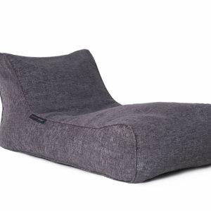 luscious grey studio lounger bean bag