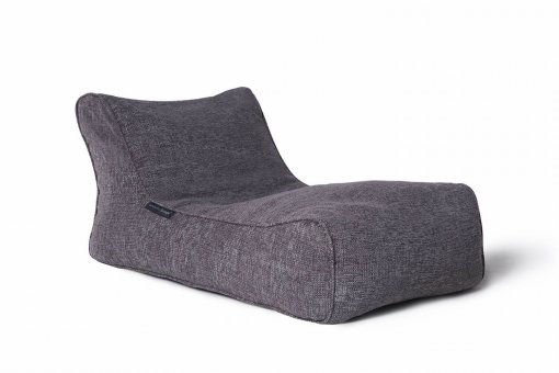 luscious grey studio lounger bean bag