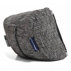 luscious grey tech pillow bean bag back