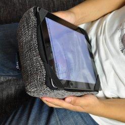 luscious grey tech pillow bean bag for ipad