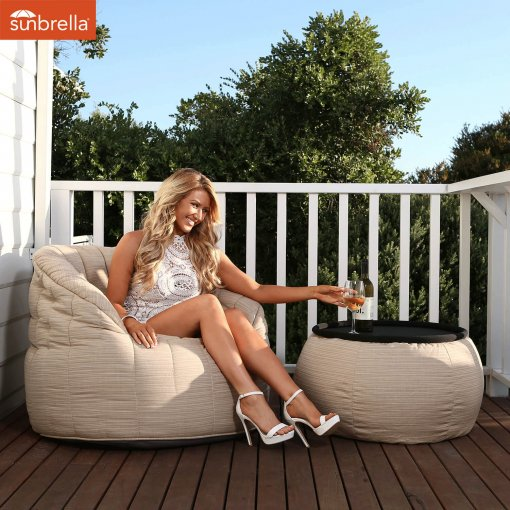 mudhoney dune versa table bean bag for outdoor