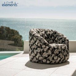nightbloom butterfly sofa bean bag outdoor shot