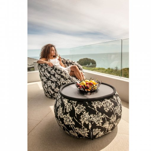 nightbloom versa table bean bag with buttefly sofa