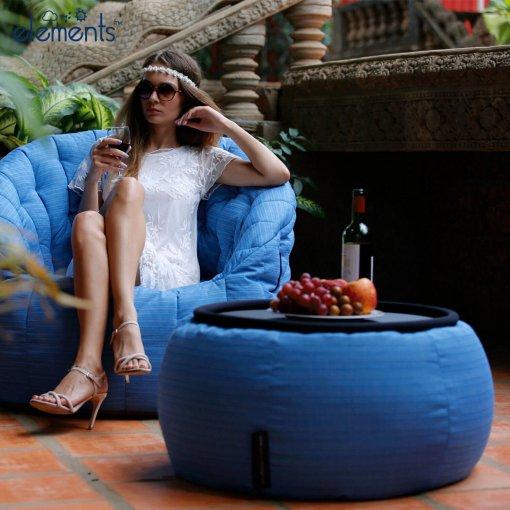 oceana versa table bean bag with butterfly sofa