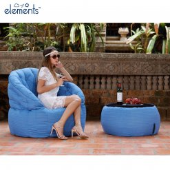 oceana versa table bean bag with model