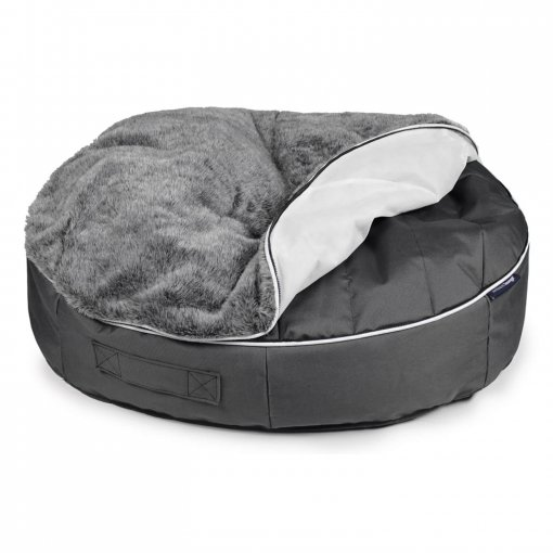 Extra large pet lounger with top unzipped